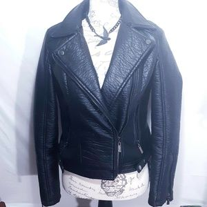 Jackets & Blazers - Double Breasted Faux Leather Jacket